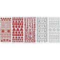 """Set stickers à relief """"Noël"""", rouge/blanc, 23 x 10 cm, 5 feuilles"""