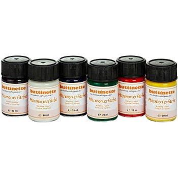 buttinette Set de peinture 'effet marbré', couleurs primaires