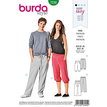 burda Patron 7230 'pantalon Young'