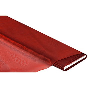Organza 'Delhi', rot/schwarz