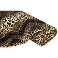 "Tissu imitation fourrure ""léopard"", marron"