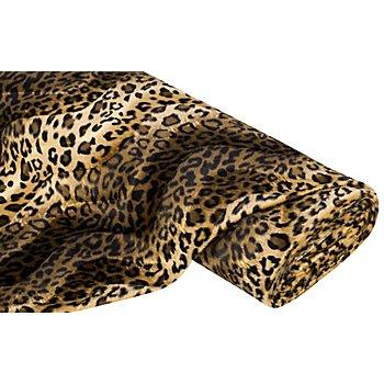 Tissu imitation fourrure 'léopard', marron