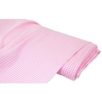 Baumwollstoff Vichykaro 'Mona', rosa/weiss, 3 x 3 mm