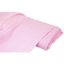 Tissu coton 'carreaux vichy Mona', rose/blanc