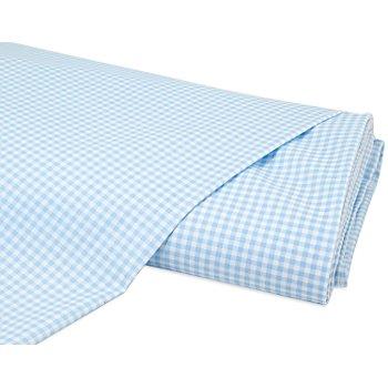Baumwollstoff Vichykaro 'Mona', hellblau/weiß, 3 x 3 mm