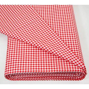 Tissu coton à carreaux vichy 'Mona', rouge/blanc, 3 x 3 mm