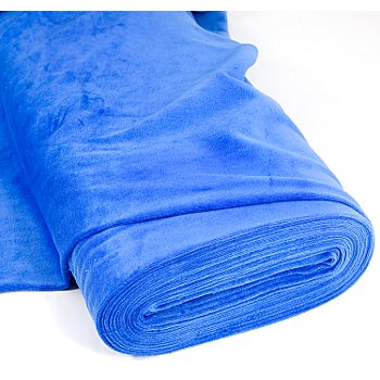 Tissu velours nicky, bleu azur