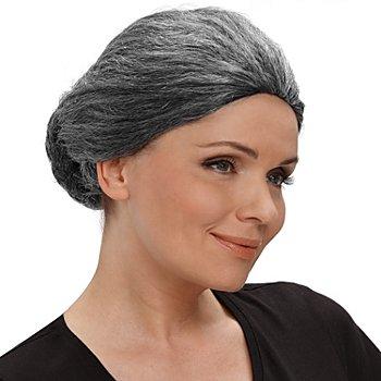 Oma Perücke, grau-meliert