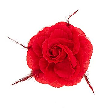 Rose aus Stoffgewebe, rot
