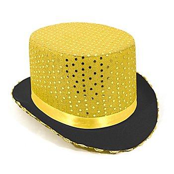 Chapeau haut-de-forme, doré