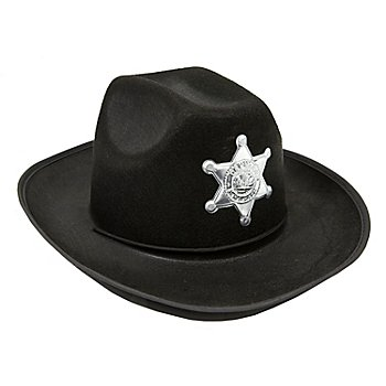 Chapeau de cowboy avec étoile, noir