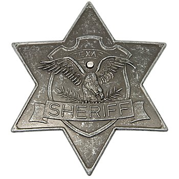 Sheriffstern, altsilber
