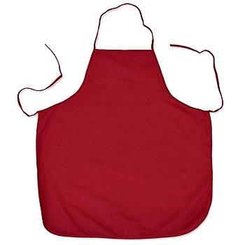 Schürze, rot, 66 x 72 cm