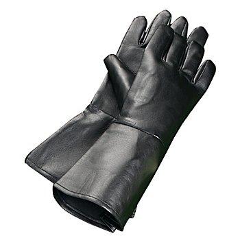 Handschuhe aus Lederimitat, schwarz