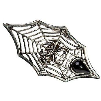 Ring 'Spinnennetz', silber