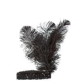 Pailletten-Stirnband, schwarz