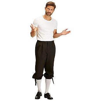 Kniebundhose für Herren, schwarz
