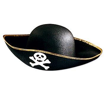 Chapeau de pirate pour enfants et adultes, noir