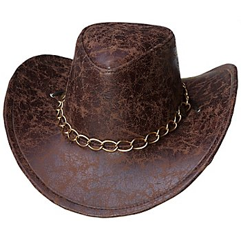 Chapeau de cowboy 'Bill', marron