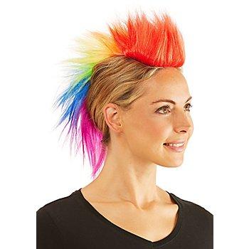 Crête de punk, multicolore
