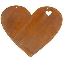 Rost-Herz zum Hängen aus Metall, 36 x 30 cm