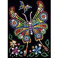 """Sequin Art Paillettenbild """"Schmetterling"""", 25 x 34 cm"""