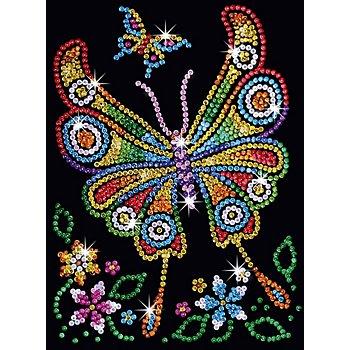 Sequin Art Paillettenbild 'Schmetterling', 25 x 34 cm