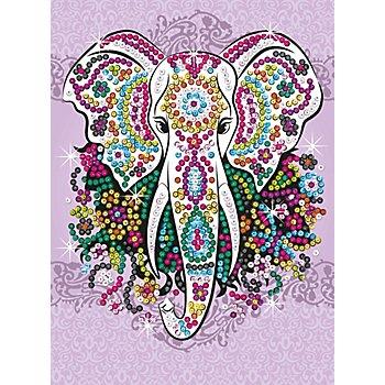 Sequin Art Paillettenbild 'Elefant', 25 x 34 cm