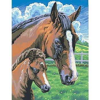 Malen nach Zahlen mit Acrylfarben 'Pferde', 23 x 30,5 cm