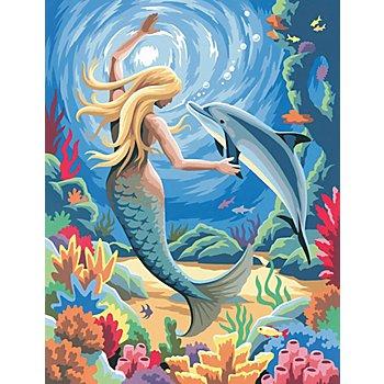 Kit peinture aux numéros 'sirène', 23 x 30,5 cm
