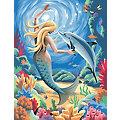 """Malen nach Zahlen mit Acrylfarben """"Meerjungfrau"""", 23 x 30,5 cm"""