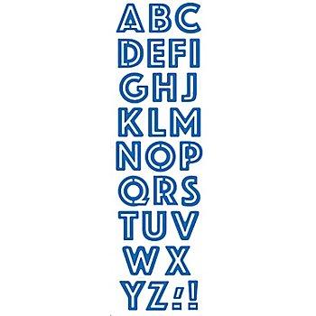 Stanzschablonen-Set 'Alphabet Druckbuchstaben', 28-teilig