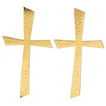 Wachsverzierung Kreuz gold