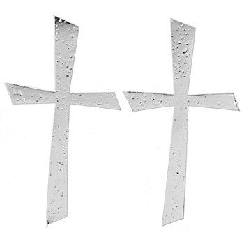 Motifs en cire 'croix argentée'