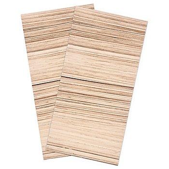 Wachsplatten, holzoptik, 20 x 10 cm, 2 Stück