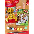 """Malen nach Zahlen mit Acrylfarbe """"Hunde"""", 2 Motive"""