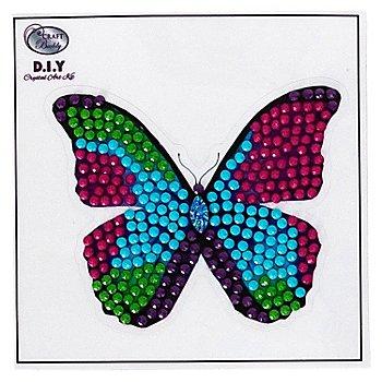 Diamantenstickerei-Sticker 'Schmetterling', Ø 8 cm