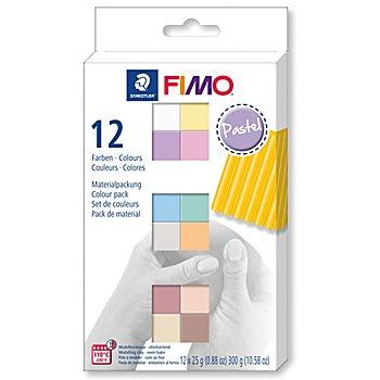 FIMO Set de pâte à modeler 'couleurs pastel', 12 couleurs