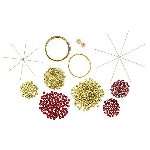 Image of Baumbehang-Set, rot-gold, 6 Stück