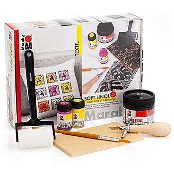 Marabu Set de linogravure pour textiles