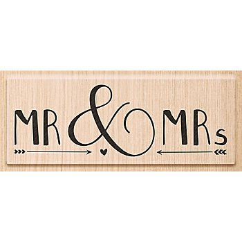 Holzstempel 'MR & MRs', 3 x 9 cm