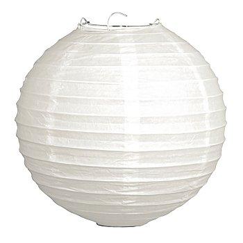 Papierlampions, 2 Stück, 20 cm Ø, weiss