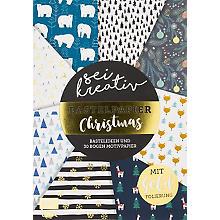 Papierblock 'Sei kreativ – Bastelpapier Christmas' 21 x 29,7 cm, 30 Blatt