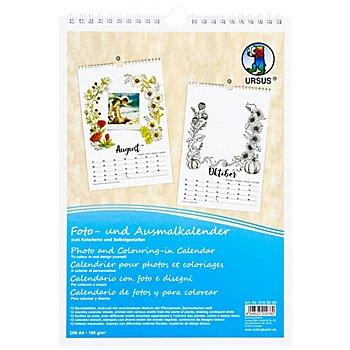 Calendrier pour photos et coloriages, DIN A4