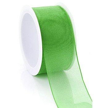 Chiffonband, grasgrün, 40 mm, 5 m