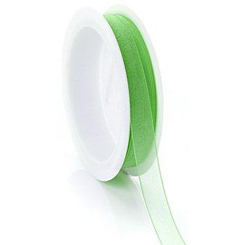 Ruban chiffon, vert gazon, 10 mm, 10 m