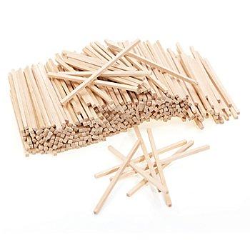 Holz-Stäbchen, natur, 8,6 cm, 650 Stück