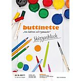 buttinette Skizzenblock, weiß, A4, 50 Blatt