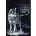 "Diamantenstickerei-Set ""Wolf"", 31,5 x 46,5 cm"