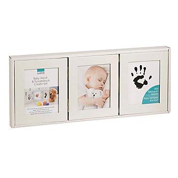 Kit d'empreintes de pied et main pour bébé - cadre
